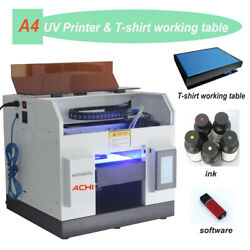 A4 Uv Printer Epson R330 Printer Head For Flat And T-shirt Working Table 6 Color