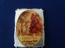 1977 B.h. Mayer Americans Will Always Fight For Liberty Bhm-69 Silver Bar P1840