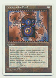 Mtg Magic The Gathering Artist Proof Signed And Altered Armageddon Clock Lp A