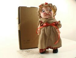 Doll Girl Colonial Campbell Kid Doll In Vinyl 10 5/8in Of 1977 In Box