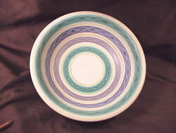 Poole Pottery Large Bowl, England, Hand Dec., Art Deco Style, Marks Obscured