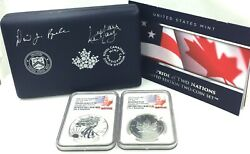 2019 Pride Of Two Nations Limited Edition Eagle And Maple Ngc Hand Signed At Ana