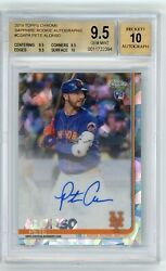 2019 Topps Chrome Sapphire Pete Alonso Rc Rookie Bgs 9.5 10 Auto Gem Mint Mets🔥