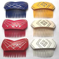 French Fashion Hair Side Comb Women Crystal Sparkle Rhinestone Made In France
