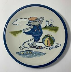 Louisville Stoneware Pottery 1000 Islands River Rats Plate For Captain Spicers