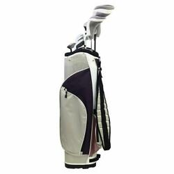 Knight Teen Girl Graphite Golf Package Driver 3-wood 4/5 Hybrid 6-pw Putter Bag