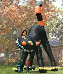 20ft Lovely Animated Giant Inflatable Black Cat For Halloween Decoration M