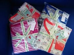 NWT Jasmine & Ginger 100% Cotton Waffle Packaged Pajama Set Multi Color M or L