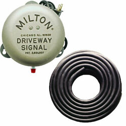 Milton 805 Service Gas Station Driveway Signal Bell And 25' 3/8 Signal Bell Hose