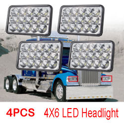4x Led Headlights For Freightliner Fld120 Fld112 4and039and039x6and039and039 Light Hi/lo Sealed Beam