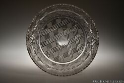 """C. 1840 - 1850 Placid Plate By Fort Pitt / Curling Flint Colorless 7 5/8"""" W"""