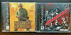 Medal Of Honor And Armorines Project S.w.a.t. Sony Playstation - 2 Games Complete