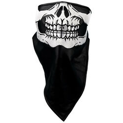 Skull Face Leather Neck Warmer one size fit all