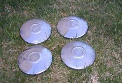 1968 Vw Bug Hubcaps And Wheel Rims - No Rust Oem