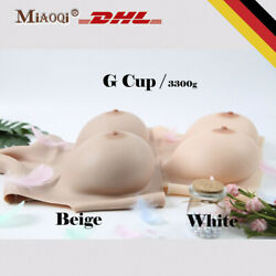 G Cup Silicone Breast Plate Form Fake Boobs For Crossdressers Transgender