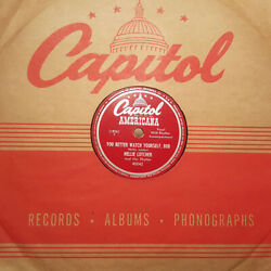 Nellie Lutcher You Better Watch Yourself Bub/my Motherand039s Eyes Capitol Exc Hear