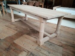 Oak Refectory Dining Table Made To Order
