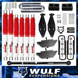 3 Front 2 Rear Lift Kit W/ Rancho Shocks And Track Bar Fits 1999-2004 F250 4x4