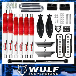 2.8 Front 2 Rear Lift Kit W/ Rancho Shocks And Tb Fits 1999-2004 Ford F350 4x4