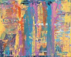 New Modern Abstract Original Art Painting Artist Dan Byl Contemporary Huge 4x5and039