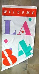 Rare Mint Vintage 1984 Los Angeles Olympics Banner, 67 X 31.5, Large Size