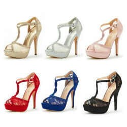 Womenand039s High Heel Stiletto Sandals Sexy Peep Toe Party Dress Pump Sandals