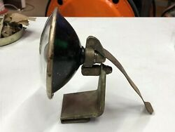 Vintage Lamp Early Old Search Spot Lamp Light Glass Fender Mount Motorcycle Car