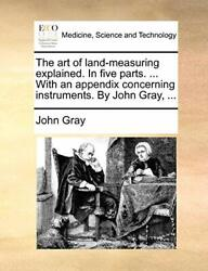 The Art Of Land-measuring Explained. In Five Pa, Gray, John,,
