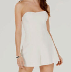 Nwt 385 French Connection Womens White Removable-strap Clubwear Romper Size 2