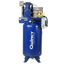 Quincy Qt Pro 5-hp 80-gallon Two-stage Air Compressor 208v 3-phase