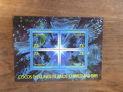1985 Cocos Island 4 Stamp Mini Sheet Christmas Mint Stamps