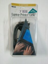 3-ft Ieee Parallel Printer Cable Bi-directional Laptop Computer 25-pin To 36-pin