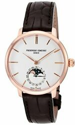 Frederique Constant Watch Slim Line Moon Phase Manufacture 703v3s4