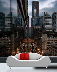 3d Glass Wall City T222 Transport Wallpaper Mural Self-adhesive Removable Sunday