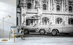 3d Antique Open Cars T369 Transport Wallpaper Mural Self-adhesive Removable Su