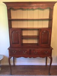 Vintage Wild Cherry Welsh Cupboard Hutch - Made In Delaware Usa - Local Delivery