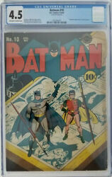 Batman 101942 Dccgc 4.5 Vg+catwoman Appearance In New Costume