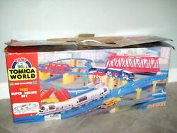 Vintage Tomy Tomica World 7423 Super Deluxe Set System Thomas Train Toy 100