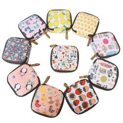 Portable Cartoon Sanitary Towel Napkin Pad Tampon Purse Holder Small Zip Bag S