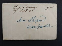 New York Paris Furnace 1846 Stampless Cover, Ms, Dpo Oneida Co To Wampsville