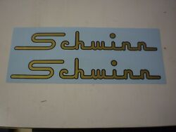 Schwinn Approved Black And Gold Later 1958 Ish Hornet Bicycle Horn Tank Decals