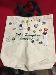 Jobs Daughters International Canvas Tote With Jobie Pins