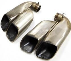 2003-2006 Porsche Cayenne 955 4.5l Turbo V8 Exhaust Pipe Muffler Tip Set 2