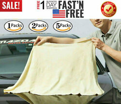 60x90cm Natural Chamois Leather Car Drying Towel Shammy Cleaning Cloth Absorbent