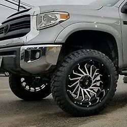 4 Four 24and039and039 Xm-330 24x14-76 Wheels Truck Chevy Gmc Toyota Lifted Black Machine