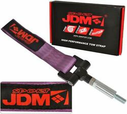 Threaded Screw Front Rear Tow Hook Strap Unit Purple For 2000-2009 Honda S2000