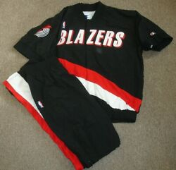 1994-95 Clyde Drexler Portland Trail Blazers Game Used Warm-up Jacket And Pants
