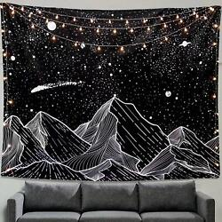 Zussun Mountain Moon Tapestry Wall Hanging Mandala Hippie Bohemian Wall Hanging