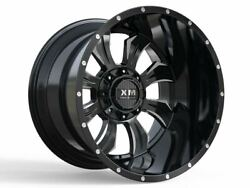 4 Four 28and039and039 Xm-323 28x14-76 Wheels Truck Chevy Gmc Ford Lifted Off Road Milled