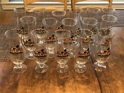 16 Hard Rock Cafe Hurricane Glass Collection
